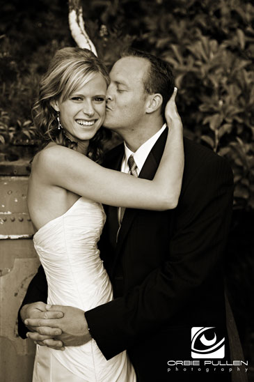 Santa Cruz Fine Art Wedding Photographer Orbie Pullen captured this bride and groom in Santa Cruz, Ca.