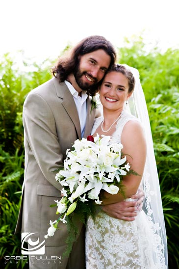 Fine Art Destination Wedding Photographer Orbie Pullen photographed this portrait of the Bride and Groom on their Wedding Day.