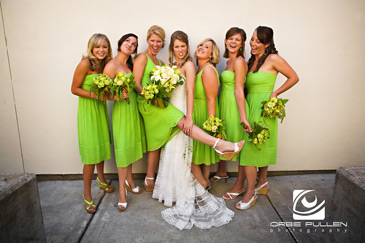 Santa Cruz Fine Art Wedding Photographer Orbie Pullen shot this photograph of a bridal party in Santa Cruz, Ca.
