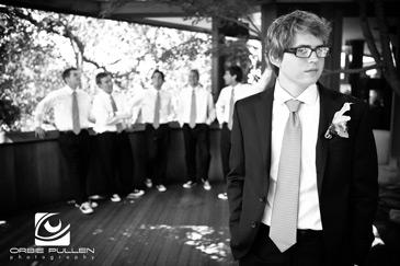 Santa Cruz Fine Art Wedding Photographer Orbie Pullen captured this photo of a groom and his groomsmen in Santa Cruz, Ca.