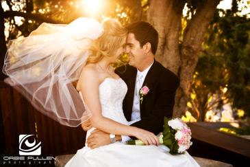 Santa Cruz Fine Art Wedding Photographer Orbie Pullen captured this shot of a bride at the Hollins House in Santa Cruz, Ca.