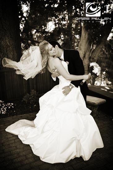 Santa Cruz Fine Art Wedding Photographer Orbie Pullen captured this Wedding Image at the Hollins House in Santa Cruz, Ca.
