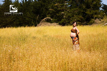 Santa Cruz Maternity and Pregnant Photographer Orbie Pullen Captured this portrait of his pregnant client in Santa Cruz, Ca.