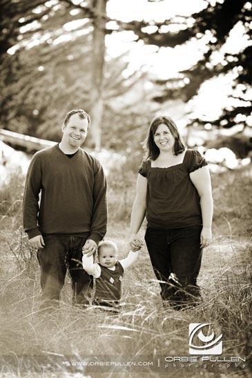 Santa Cruz Family Portrait Photographer Orbie Pullen captured this family portrait of the LaMarche Family in Santa Cruz, Ca.