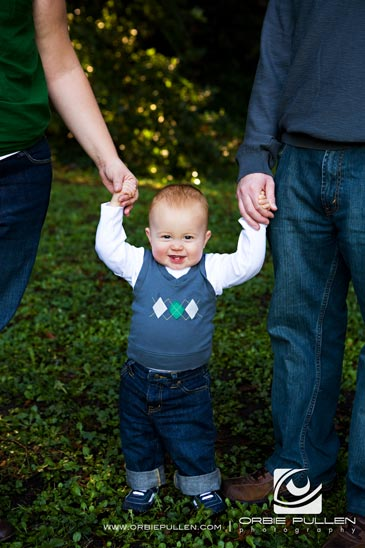 Santa Cruz Family Portrait Photographer Orbie Pullen captured this family portrait of the LaMarche Family and their boy in Santa Cruz, Ca.