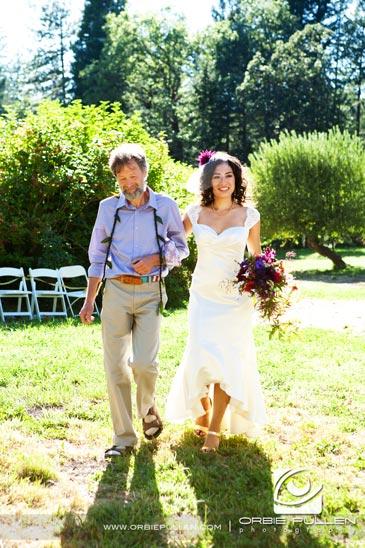 Destination Travel Garden Wedding photographer Orbie Pullen captured this unique, hip, Offbeat wedding couple in northern California.