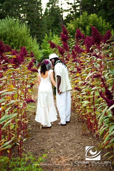 Destination Travel Garden Wedding photographer Orbie Pullen captured this unique, hip, Offbeat wedding couple in northern California.