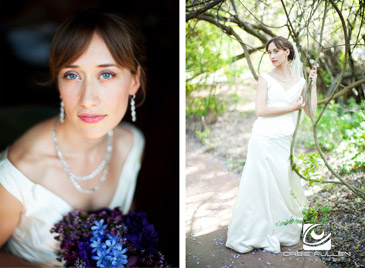 Hans Faden Winery Wedding Photographer Orbie Pullen Shot this photograph of a bride in Calistoga, Ca.