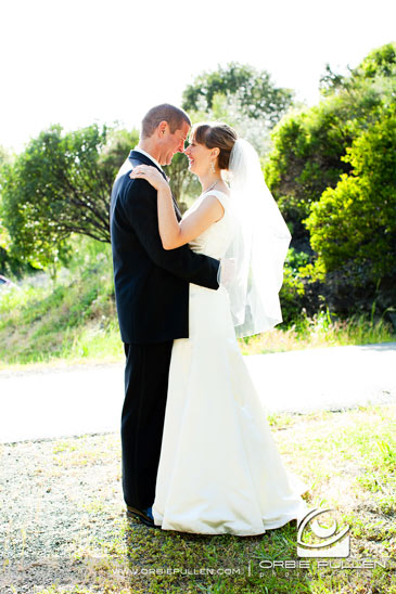 Hans Faden Winery Wedding Photographer Orbie Pullen Shot this photograph of a loving married couple in Calistoga, Ca.